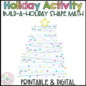 Adding and Subtracting Decimals Holiday Activity | Printable & Digital Google