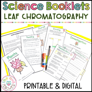 Leaf Chromatography Chlorophyll in Plants Investigation Booklet