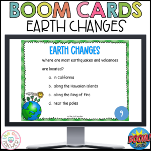 Earth Changes | Slow and Fast Changes of the Earth | Boom Cards