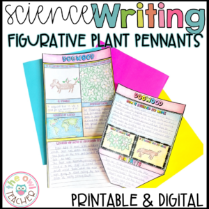 Figurative Plant Pennants – Figurative Language and Legend Writing Activity