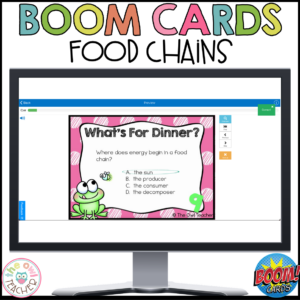 Food Chains Boom Cards | Food Chains Task Boom Cards