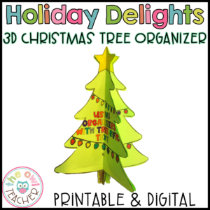 Reading Graphic Organizers | Holiday Graphic Organizers | Printable & Digital