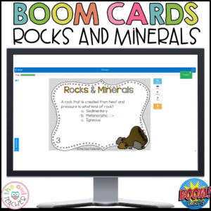 Rocks and Minerals Boom Cards | Rocks and Minerals Task Boom Cards