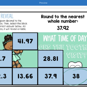 Rounding Decimals | Riddle Reveal Boom Cards
