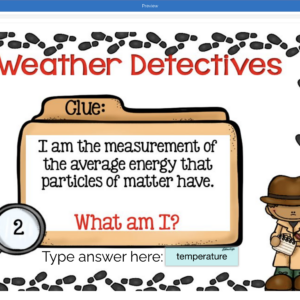 Weather Vocabulary Boom Cards Digital Activity