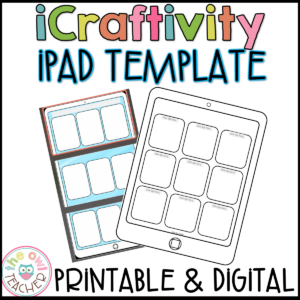 iPad Craftivity Template Printable & Digital for any concept