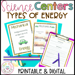 Forms of Energy Centers | Lab Stations | Worksheets