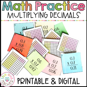 Multiplying Decimals Differentiated Practice Craftivity and Center