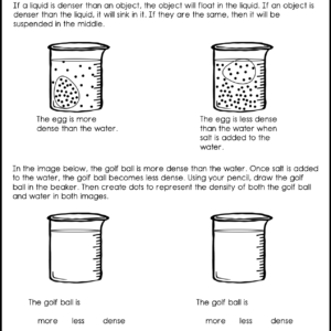 Understanding Density Craftivity