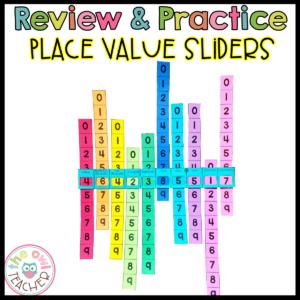 Place Value Sliders Hands-on Manipulative