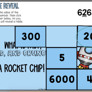 Place Value (Finding the Value of a Digit) Riddle Reveal Boom Cards