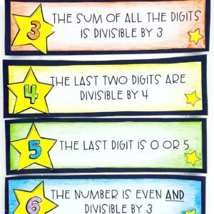 Divisibility Mobile Student Activity or Teacher Posters