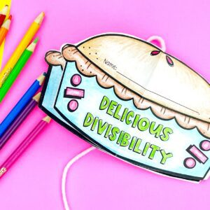 Divisibility Pie Circle Book Craft Activity