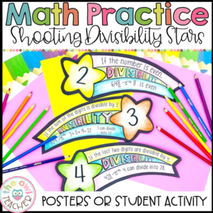 Divisibility Rules Student Math Activity or Math Posters